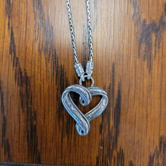 Engraved heart necklace by Brighton